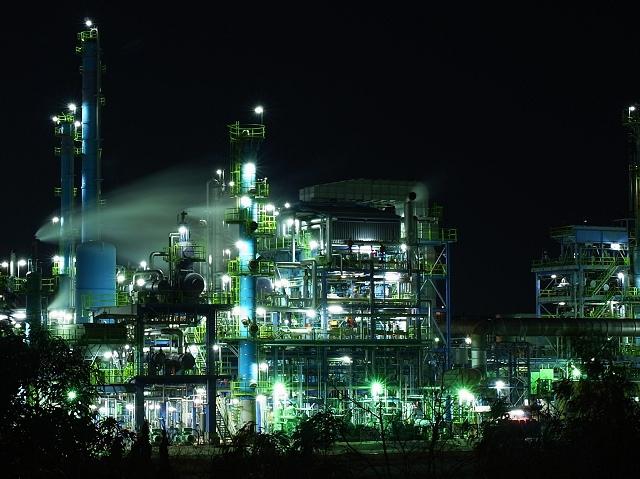 美しさ Lv1.0 】 新日本石油精製大阪製油所の夜景  夜景ワールド